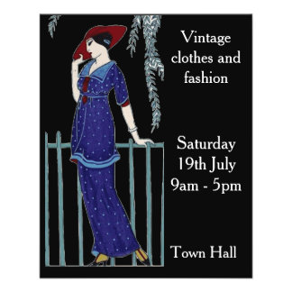 Vintage fashion sale flyers