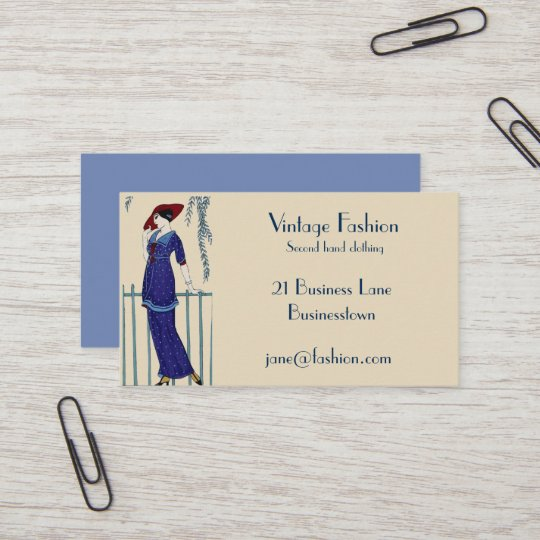 Vintage Fashion Second Hand Clothing Store Business Card Zazzle
