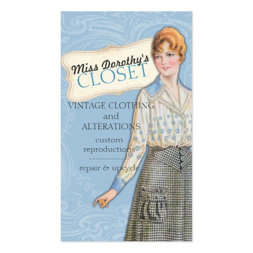 vintage fashion sewing seamstress alterations business card zazzle