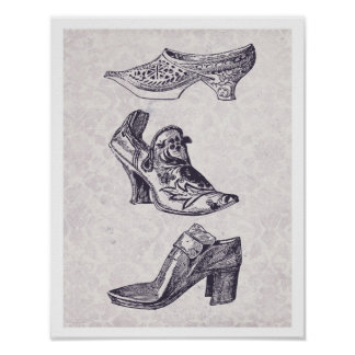 Vintage Fashion Shoes Poster