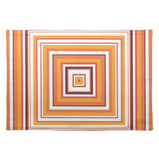 Vintage Fashion Striped Square Pattern Placemat