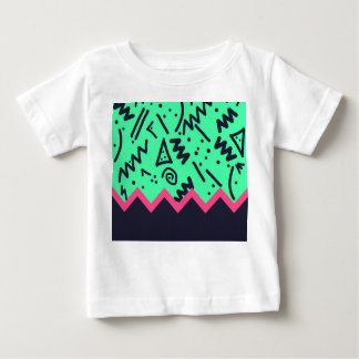 Vintage Fashion Trend Neon Colorful Shapes Pattern Baby T-Shirt