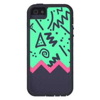 Vintage Fashion Trend Neon Colorful Shapes Pattern iPhone SE/5/5s Case