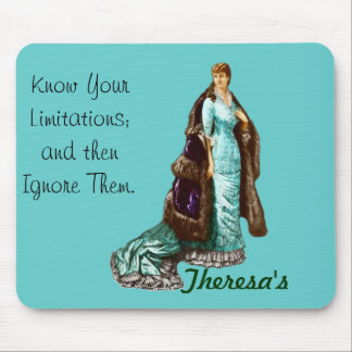 Vintage Fashion with Personalized Text Mouse Pad