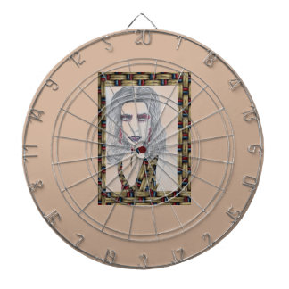 Vintage Fashion Woman Clock Dartboard