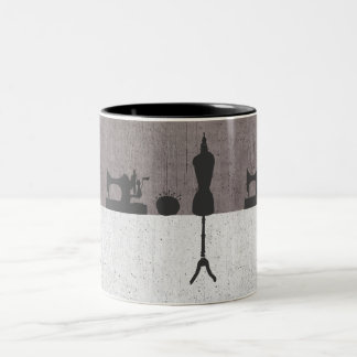 Vintage Fashion Women's Designer Mannequin Two-Tone Coffee Mug
