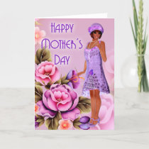 Vintage Fashionable Flapper Girl Mother's Day Card