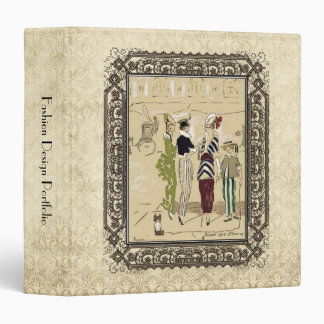 Vintage Fashionable Parisian Ladies with Dog Binder
