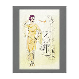 Vintage Fashionista_Lounging Robe_1920s Stretched Canvas Prints