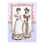 Vintage Fashions Pink & Purple Lace Bridal Shower Invitation