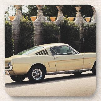 Vintage Fastback 1965 Mustang 2+2 Honey Gold Beverage Coaster