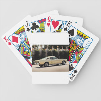 Vintage Fastback 1965 Mustang 2+2 Honey Gold Bicycle Playing Cards