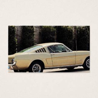Vintage Fastback 1965 Mustang 2+2 Honey Gold Business Card
