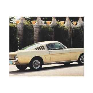 Vintage Fastback 1965 Mustang 2+2 Honey Gold Canvas Print