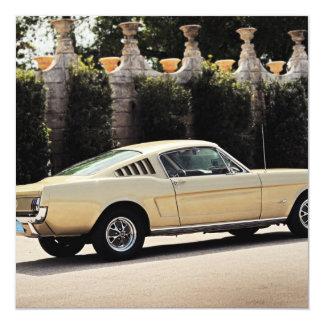 Vintage Fastback 1965 Mustang 2+2 Honey Gold Card