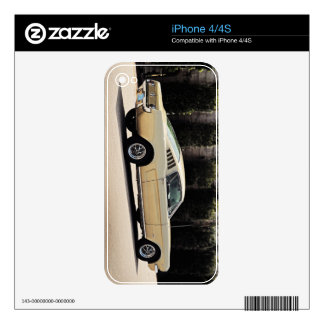 Vintage Fastback 1965 Mustang 2+2 Honey Gold Decal For The iPhone 4S