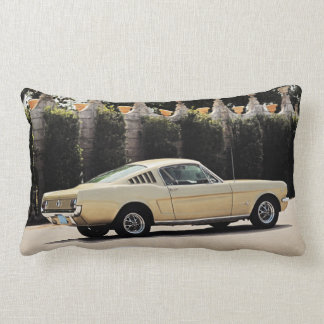 Vintage Fastback 1965 Mustang 2+2 Honey Gold Lumbar Pillow
