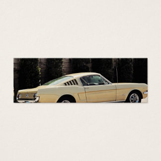 Vintage Fastback 1965 Mustang 2+2 Honey Gold Mini Business Card