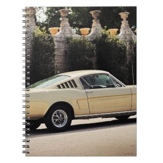 Vintage Fastback 1965 Mustang 2+2 Honey Gold Notebook