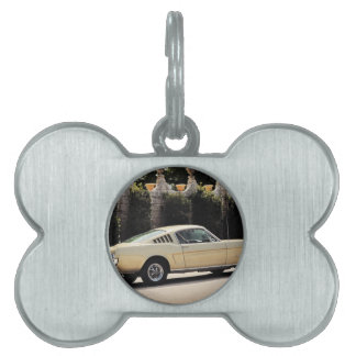 Vintage Fastback 1965 Mustang 2+2 Honey Gold Pet ID Tag