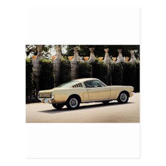 Vintage Fastback 1965 Mustang 2+2 Honey Gold Postcard