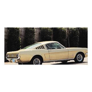 Vintage Fastback 1965 Mustang 2+2 Honey Gold Rack Card
