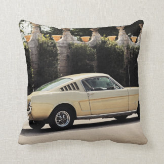 Vintage Fastback 1965 Mustang 2+2 Honey Gold Throw Pillow