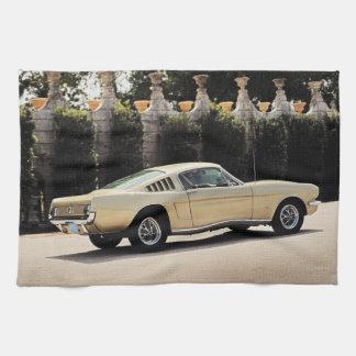 Vintage Fastback 1965 Mustang 2+2 Honey Gold Towel