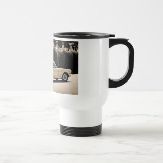 Vintage Fastback 1965 Mustang 2+2 Honey Gold Travel Mug