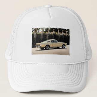 Vintage Fastback 1965 Mustang 2+2 Honey Gold Trucker Hat