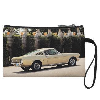 Vintage Fastback 1965 Mustang 2+2 Honey Gold Wristlet Wallet