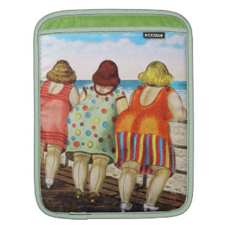Vintage Fat Bottomed Girls at Beach Sleeve For iPads