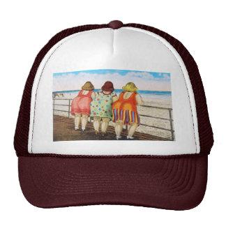 Vintage Fat Bottomed Girls at Beach Trucker Hat