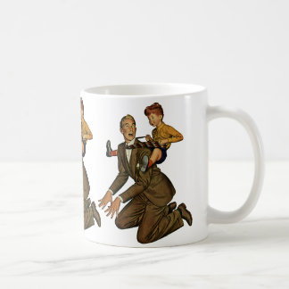 Vintage Father and Son, Funny, Silly Father's Day Coffee Mug