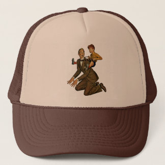 Vintage Father and Son, Funny, Silly Father's Day Trucker Hat