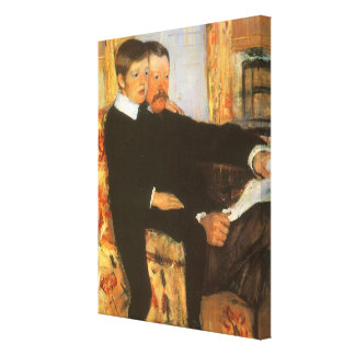 Vintage Father and Son Portrait by Mary Cassatt Canvas Print