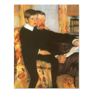Vintage Father and Son Portrait by Mary Cassatt Card