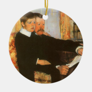 Vintage Father and Son Portrait by Mary Cassatt Ceramic Ornament