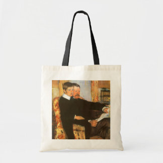 Vintage Father and Son Portrait by Mary Cassatt Tote Bag