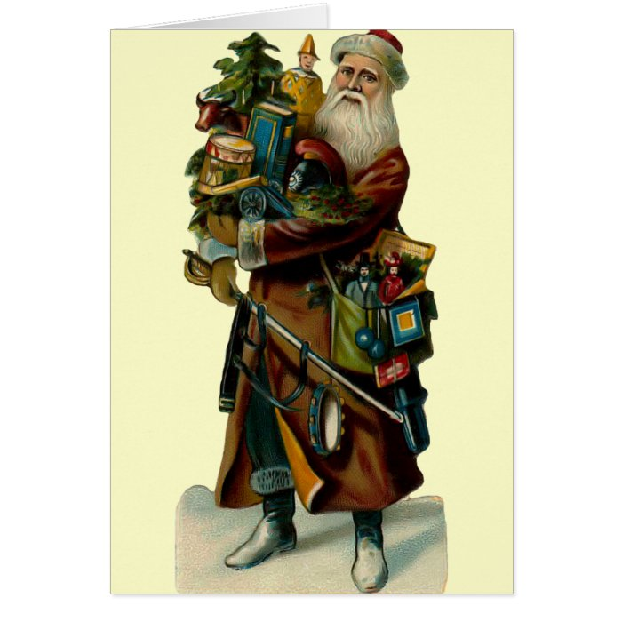 Vintage Father Christmas Card