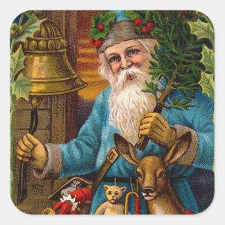 Vintage Father Christmas Christmas Stickers