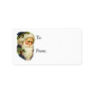 Vintage Father Christmas Gift Tag