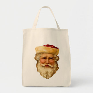 Vintage Father Christmas Organic Grocery Tote
