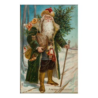 Vintage Father Christmas Poster
