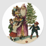 Vintage Father Christmas Sticker