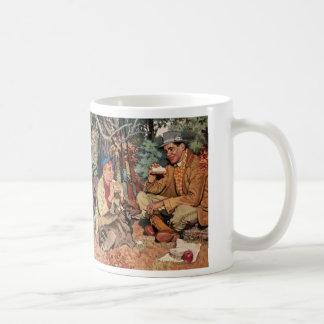 Vintage Father Son Hunting Rifle Picnic Coffee Mug