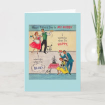 Vintage Father's Day Card to Hubby