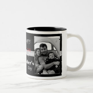 Vintage Father's Day - Customized Two-Tone Coffee Mug