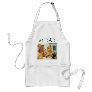 Vintage Father's Day, Happy Dad and Son Boy Adult Apron