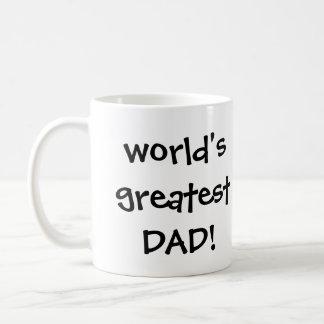 Vintage Father's Day, Happy Dad and Son Boy Coffee Mug